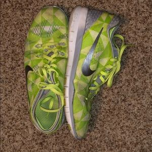 Like green and silver Nike's